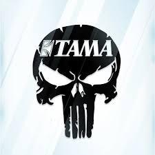 6 Inch Tama Punisher Skull Vinyl Cut Window Decal Drums Stickers Aliexpress