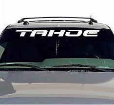 For Tahoe Window Decal Sticker 4 Door Chevy Tahoe Windshield Vinyl Lettering Car Stickers Aliexpress