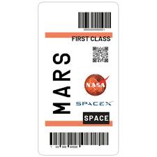 Mars Ticket Nasa Spacex Sticker In 2020 Diy Phone Case Design Iphone Case Stickers Nasa Spacex