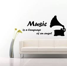 Wall Decals Music Decal Vinyl Sticker Quote Gramophone Musical Notes Decor For Window Furniture Pattern Single Piece Package Musical Note Decoration Stickers Quotesvinyl Stickers Aliexpress