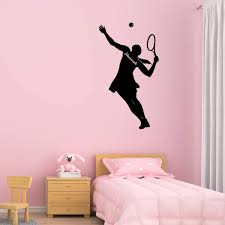 Vwaq Custom Tennis Wall Decal Girls Room Personalized Name Sports Wall