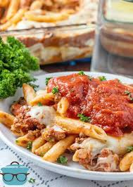 the best easy baked ziti cerole