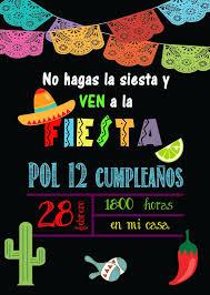 Mardefiesta Invitacion Fiesta Mexicana Y Preparativos