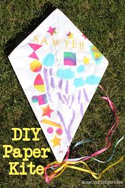kids craft diy paper kite happiness