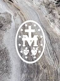 Miraculous Medal Decal Vinyl Decal Catholic Decal Etsy