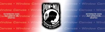 Pow Mia Usa Rear Window Graphic Custom Vinyl Graphics