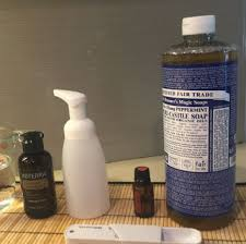 diy foaming hand soap using essential