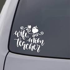 Amazon Com Teacher Wife Mom Car Sticker Decal Window Truck Laptop Gift Handmade