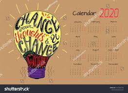 calendar design template motivational quotes stock