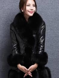 winter fur coat women thicken pu faux