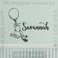 Personalized Name Classic Pooh Balloon Quote Vinyl Wall Decal Decor Sticker Ebay