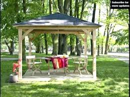 small gazebo like corner garden arbor