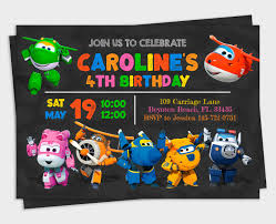 Super Wings Invitation Super Wings Party Super Wings Birthday
