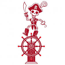 Captain Pirate Wall Decal Baby Kids Wall Decals E Glue Children Room Wall Decor