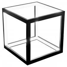 led black box table lamp modern