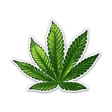 Marijuana Leaf Weed Canabis 3 Vinyl Sticker For Car Laptop I Pad Phone Helmet Hard Hat Waterproof Decal Walmart Com Walmart Com
