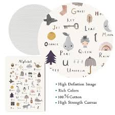 Best Sale 26566 Abc Animals Alphabet Poster Nursery Wall Art Canvas Painting Educational Preschool Posters Wall Pictures For Kids Room Decor Cicig Co