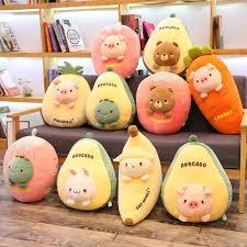 Cute Stuffed Fruit Series Pillow Cushion Siesta Pillow Cartoon Pineapple Avocado Doll Plush Toy Kids Girl Gift Room Decor Movies Tv Aliexpress