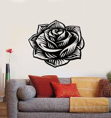 Vinyl Wall Decal Flower Rose Bud Gorgeous Floral Ornament Stickers Mur Wallstickers4you