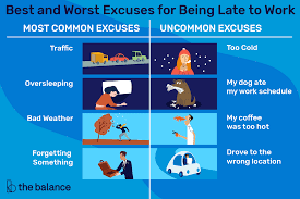 Worst Excuses for Being Late to Work