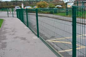 Garden Fence Apollo Rolled Top Heras For Public Spaces Playground Welded Mesh