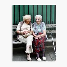 "little old ladies"" Canvas Print by MikeJagendorf 