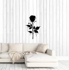 Vinyl Wall Decal Garden Gothic Style Rose Flower Stickers 3885ig Wallstickers4you