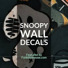 Snoopy Vinyl Wall Decals Colorful Different And Animated