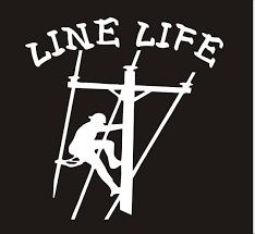 Line Life Lineman Vinyl Decal Line Life Vinyl Sticker Line Life Sticker Line Life Car Decal Line Life Lineman Car Truck Sticker Lineman