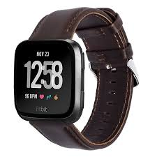 fitbit versa genuine leather band