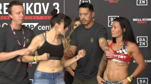 Amber Leibrock vs. Arlene Blencowe - Weigh-in Face-Off - (Bellator 206) -  /r/WMMA - YouTube