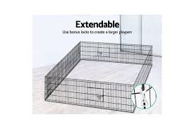 24 8 Panel Pet Dog Playpen Puppy Exercise Cage Enclosure Play Pen Fence Matt Blatt