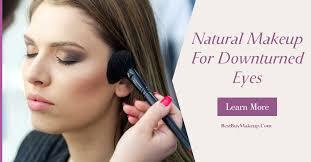 natural makeup for downturned eyes