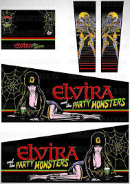 Elvira And The Party Monsters Pinball Cabinet Decals Set Pinball Decals Eu