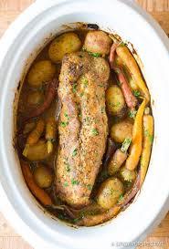 crock pot pork loin with vegetables