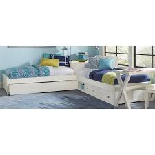 Ne Kids Pulse Twin L Shaped Storage Bed With Trundle In White 33051nst