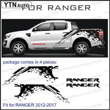 Car Stickers 4 Pcs Mudslinger Side Body Rear Trunk Graphic Vinyl Car Decal Custom For Ford Ranger T6 T7 T8 Buy At The Price Of 73 26 In Aliexpress Com Imall Com
