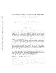 PDF) Diameter two properties and polyhedrality