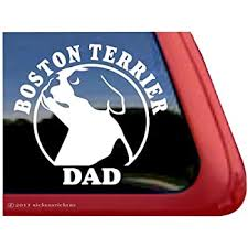 Amazon Com Boston Terrier Mom Boston Terrier Vinyl Window Auto Decal Sticker Automotive