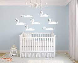 Black Swan White Swan Wall Decal Baby Wall Stickers Cloud Nursery Room Nursery Room Decor