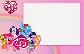 Fiesta De My Little Pony Invitaciones Para Imprimir Gratis