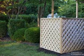 Remodelaholic Hide Your Ac Unit Diy Outdoor Air Conditioner Screen With Lattice