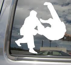 Judo Judoka Throw Japanese Martial Arts Car Window Vinyl Decal Sticker 04074 Ebay