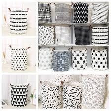 ins printing laundry basket toy storage