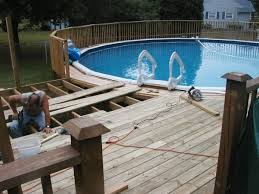 Above Ground Pool Connected To House Deck Google Search Above Ground Pool Decks Above Ground Pool In Ground Pools
