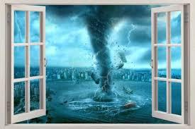 Home Garden Tornado Storm 3d Window Decal Wall Sticker Home Decor Art Mural J652 Decor Decals Stickers Vinyl Art