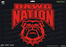 Georgia Bulldogs Dawg Nation Vinyl Decal Uga Car Truck Window Sticker New Diamonddecalz Safe Dog Toys Diamond Decals Bulldog