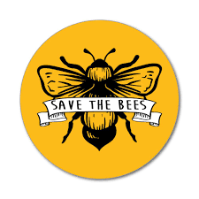 Save The Bees Banner Enviornment Yellow Planet Earth Flower Car Sticker Decal Ebay