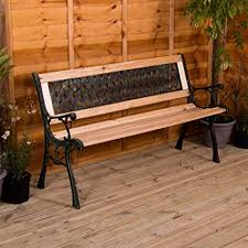 garden vida garden bench cross style