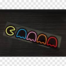 Car Pac Man Decal Bumper Sticker Transparent Png